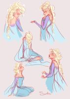 Elsa Sketches by samanthadoodles