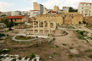 Hadrian's Library ruins 1 - Athens by wildplaces