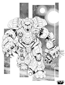 Battletech - Cave Bear Assault Mech. by sharlin