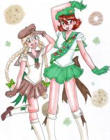 Sailor Girl Scouts by zaionczyk