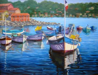 French Riveria Boats by Flaven
