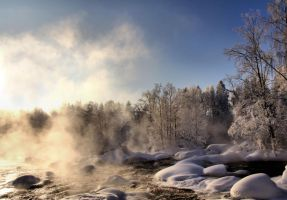 a cold winter day by KariLiimatainen