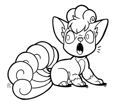 Vulpix free to use line art! by Scuterr