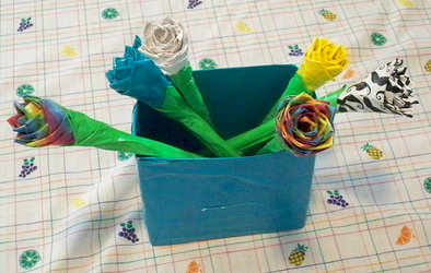 Duct tape Flowers + Vase by Lord-Hayati