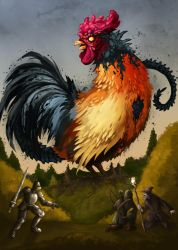 Rooster fight by polawat