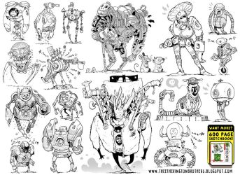 17 Robot Concepts by STUDIOBLINKTWICE