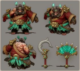 Dota 2 | Zhong Kui Pudge set sculpt by ChemicalAlia