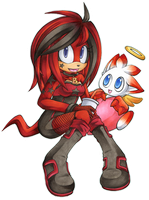 Kate  the Echidna and Snickers by Chibi-Nuffie