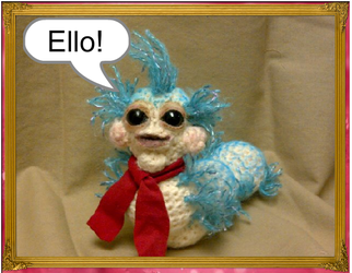 Crochet Worm from Labyrinth by FoxyBlue17