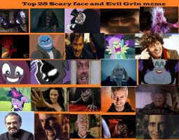 Top 25 Scary face and evil grins meme by COnfessorRocksha