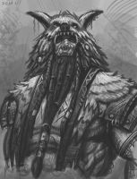 Orc Shaman Sketch by Samo94