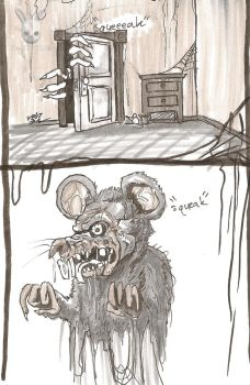 Inktober Day 26: Squeak goes the mouse... by DoubleDandE