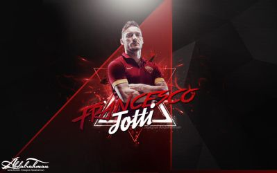 wallpaper Francesco Totti 2014 by Designer-Abdalrahman