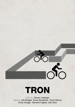 Tron pictogram movie poster by viktorhertz