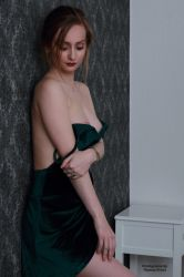 Henriette in a green dress 18 by PhotographyThomasKru