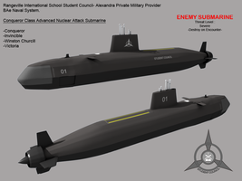 Conqueror Class Submarine by Stealthflanker