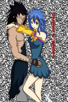 Levy and Gajeel by Zeroxis