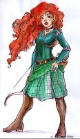 Brave Merida by mianewarcher