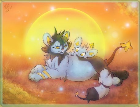 New Life: Luxio sparkles by littlepolka