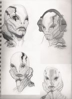The Many Faces Of Abe Sapien by Dena80