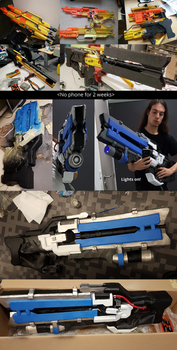 Soldier 76 Heavy Pulse Rifle NERF Stampede gun! by Furipteridae