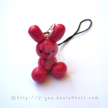cute pink bunny by TokiCrafts
