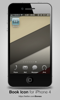 Book Icon for iPhone 4 by boreaswang