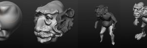 Goblin WIP Process by m-clone