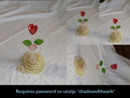 Precious - rose + pearls 4 by Eyespiral-stock