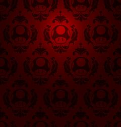 Super Mario Mushroom Damask by CodeNamePlayer
