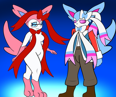 Commission - Sylveons in Style by Ryusuta
