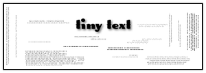Tiny Text 1 by Rauvinne