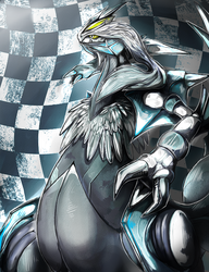 White Kyurem by Ink-Leviathan