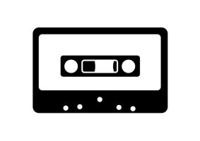 Black-and-white-audio-tape-vector by superawesomevectors