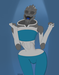 Female Turian is dancing by Schnuron