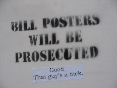 Bill Posters by Bungdeetle