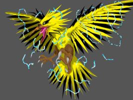 Realistic Zapdos Colored