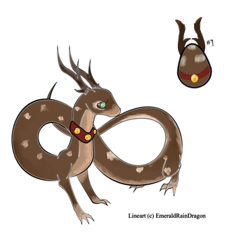 Hatched dragon #1 Reindeer Dragon by Thunderfsf