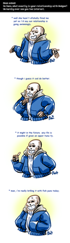Undertale ask blog: fish puns by neonUFO