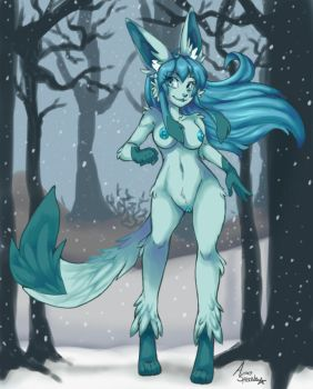 GlaceonPin-up by Pink-Angel-Kitty