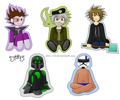 Chibis | Youtubers by Jazz-13