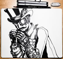Steampunk guy by SuperImki