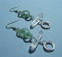 Earrings: Stone Circles by Bright-Circle