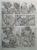 Slaughter - Slaine Tryout Page 2 Pencils by AdeHughesArt