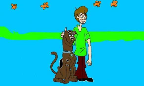 Shaggy Rogers and Scooby Doo by EdEddnEddy3456