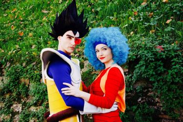 Vegeta and Bulma by PinkLemon91