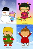 Pigtails Christmas iPhone wp by jazgirl