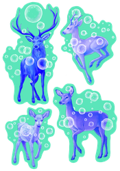 Bubbly Deer by Atarial