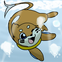 An Otterly Awesome Dive by Maru64