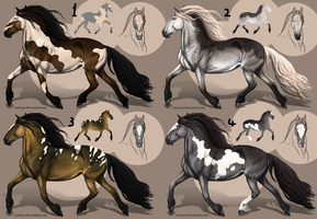 Heavy horse adopts Auction [0/4][CLOSED] by TheAdoptArtist